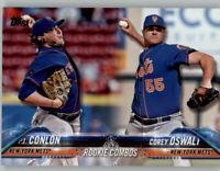 (15) P.J. Conlon/Oswalt 2018 Topps Update BASE CARD LOT (x15) Mets Rookie #US13