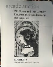 SOTHEBY'S Auction Catalog 7/17/1997 Old Master & 19th c. Paintings Drawings - NY