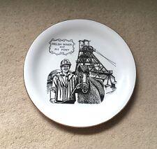 Welsh Miner et Pit Pony céramique plaque-Britannia Designs-Made in the UK-Rare