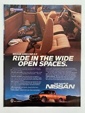 Nissan King Cab 2+2 Vintage 1985 Print Ad