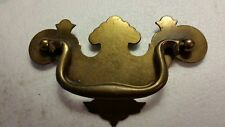 "Large vintage antique metal dresser drawer pull handle   4"" CTR TO CTR  (#19H)"
