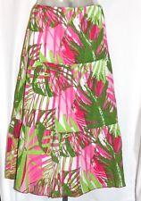 Womens Ruby Rd. Maxi Crinkle Flared Skirt Modest Long Summer Skirt Size 10