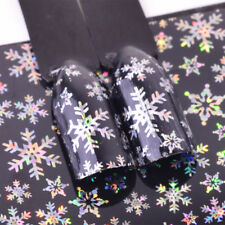 Holographic Snowflake Nail Art Foil Sticker Transfer Nail Tips winter snow flake