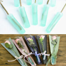 "25 Pieces 2.8"" Floral Water Tube Water Pick Vial With Cap Green"