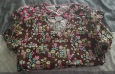 Women's Size XSmall Scrub Top Lot of 2 Assorted Peaches Medical Nursing B36AP