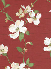 Dogwood Wallpaper in Red GE9545 DOUBLE roll