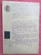 Antiguo francés escrito a mano manuscrito octubre 1883 magnífico calligrapy Decoupage