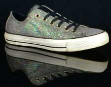 Womens CONVERSE Chuck Taylor All Stars Black Oil Slick Leather Size 7.5 Shoes