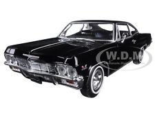1965 CHEVROLET IMPALA SS 396 BLACK STREET CAR 1/24 DIECAST MODEL BY WELLY 22417