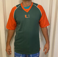 Nike Fit-Dry Miami Hurricanes Men's Medium Long Sleeve Shirt NCAA Colorblock