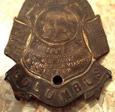 Columbus Bicycle Head Badge Emblem RARE Vintage