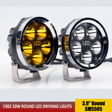 Round 4x4 Off Road Led Work Lights 50W 4inch Led Driving lights Fog Headlights