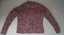 Ladies burgundy red purple knitwear top jumper size 12-14