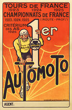 Automoto Bicycles France 1925 Vintage Cycling POSTER 24x36 Gallery Reprint