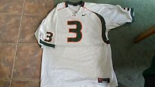 Xxl Worn Once White Nike Replica Football Jersey University Of Miami Hurricanes