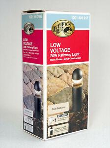 NEW Hampton Bay Low Voltage 20W Pathway Light, Black Finish Model 1001 491 917