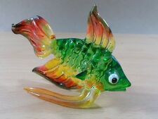 TINY CRYSTAL FISH HAND BLOWN CLEAR GLASS ART FIGURINE ANIMALS OCEAN COLLECTION