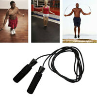 Black Bearing Skip Rope Cord Speed Fitness Aerobic Jumping Exercise Equipment.