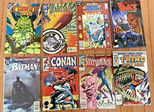 Lot of 5 DC Comics and 3 Marvel Comics - Titles in Description - Fast Delivery!