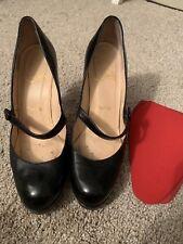 CHRISTIAN LOUBOUTIN BLACK WALLIS MARY-JANE Patent Leather PUMPS 37