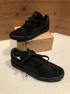PUMA Style 356328 Classic Men's Size 11 Black Suede Athletic Running Shoe's