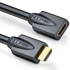 1m HDMI Verlängerung Verlängerungskabel 1080p/2160p/4K/UHD/3D/HDR deleyCON