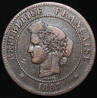 1887 A | France 5 Centimes | Bronze | Coins | KM Coins