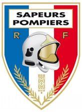 SAPEUR POMPIER - Autocollant Casque Pompiers Intérieur Pare Brise Voiture 9x8cm
