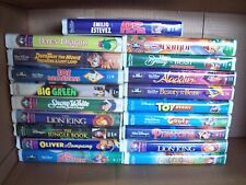 Lot of 19 Walt Disney VHS Childrens Movies