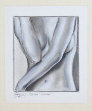 Woman Body Nude Ink painting Signed