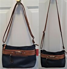"NWT Rosetti's Tanya Navy & Brown Combo Mini Crossbody & Purse, 7.25"" x 10"""