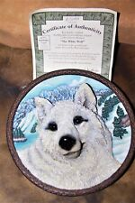 Bradford Exchange The White Wolf Faces Of The Wild Collectors Plate Coa 1996 New