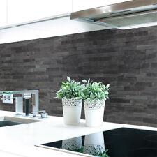 Küchenrückwand Steinwand Dunkel Premium Hart-PVC 0,4 mm selbstklebend