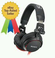 Nuevo Sony MDR-V55 Plegable Auriculares Rojo Monitor Extra Bass Estilo Dj