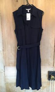 H&M Shirt Dress - Navy - Size 10 Bnwt