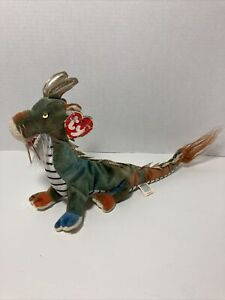 Zodiac DRAGON 2000 Retired Ty Beanie Baby Collectible Has Tag Chinese Tie Dye