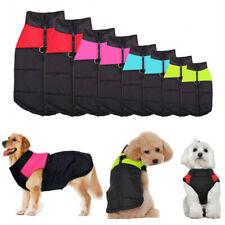 S-5XL 4 COlors Winter Warm Padded Dog Clothes Pet Waterproof Coats Vest Jacket