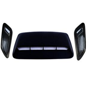 3x Car Air Flow Intake Hood Scoop Vent Bonnet Cover Decorative Cars Accessories