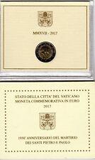 COFFRET BU VATICAN 2017  2 EURO COMMEMORATIVE 1950 ° ANNIVERSAIRE DU MARTYRE