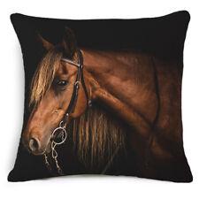 "18"" Horse Artistic Throw Pillow Case Cushion Cover Home Bedroom Sofa Decor 4#"