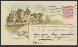 1913 #CPR-44 1c Edward CPR View Card, Montreal to France, Earnings Report