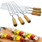 6pcs Stainless Steel BBQ Tools Fork Outdoor Camping Accessories Cooking Tool LC