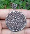 Solid Silver, 925 Bali Handcrafted Flower Design Pendant 39147