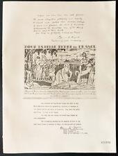 1926 - Lithographie citation Mr James R. Angell, Gén. Mason M. Patrick.