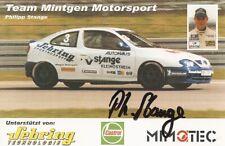 Philipp Stange  Motorsport   Autogrammkarte 1999  Tourenwagen Renault Megane Cup
