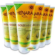 6x Henara GoldShine Conditioner For Blonde Hair 250ml Henna & Chamomile Extracts