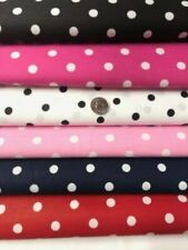 """Polka Dot Print Cotton Blend Fabric 59"""" Wide by the Yard - Assorted Colors"""