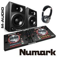 Numark Mixtrack Pro 3 DJ Controller with M-Audio AV32 Active Speakers (Pair)