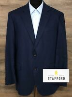 Stafford Men's Classic Fit Linen Cotton Blue 2-BTN Blazer Sport Coat Jacket 44R