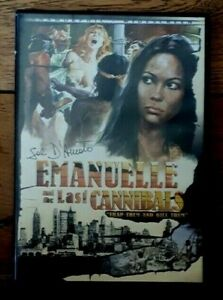 EMANUELLE AND THE LAST CANNIBALS - Signed Cover - 1977/2003 - Region 1 Dvd - Vgc